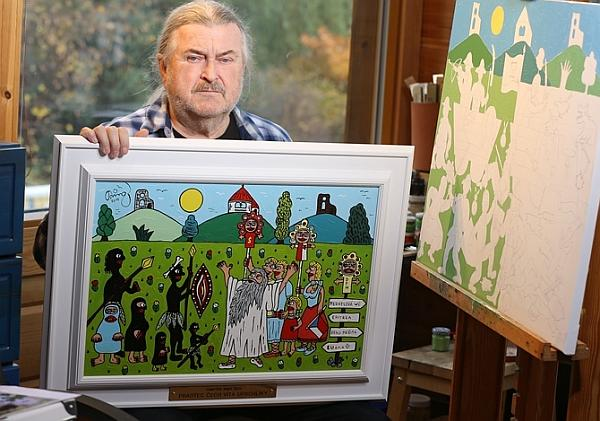 František Ringo Čech maľuje